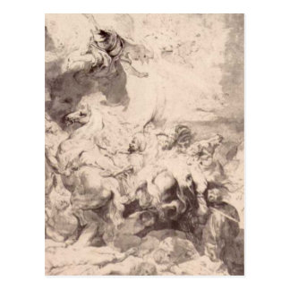 The Damage of Sennaherib by Peter Paul Rubens Postcard