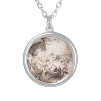 The Damage of Sennaherib by Peter Paul Rubens Round Pendant Necklace