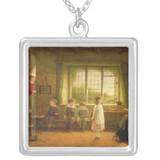 The Dame's School, s.and d. 1899 Silver Plated Necklace