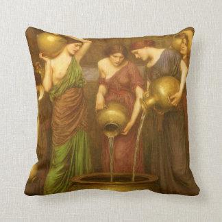 The Danaides by John William Waterhouse Cushion