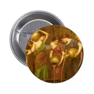 The Danaides by Waterhouse, Vintage Victorian Art Pin