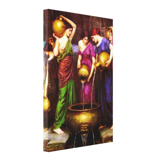 The Danaïdes ~ John William Waterhouse Canvas Print