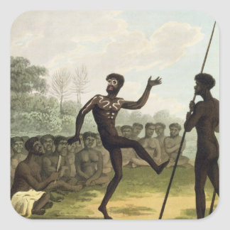The Dance, aborigines from New South Wales engrave Sticker