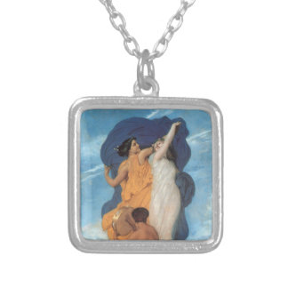 The Dance by William-Adolphe Bouguereau Silver Plated Necklace