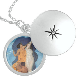 The Dance by William-Adolphe Bouguereau Sterling Silver Necklace