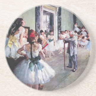 The Dance Class by Edgar Degas, Vintage Ballet Art Coaster