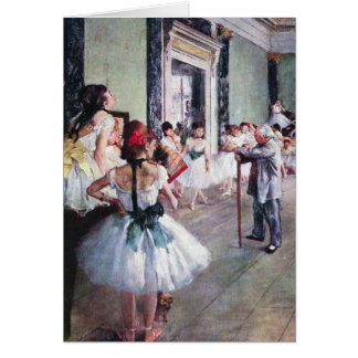 The Dance Class by Edgar Degas, Vintage Ballet Art Greeting Card
