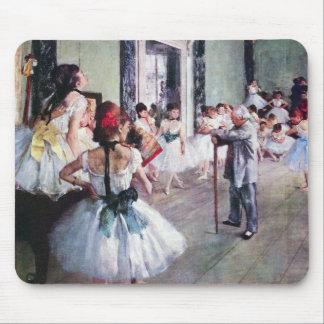The Dance Class by Edgar Degas, Vintage Ballet Art Mouse Mat