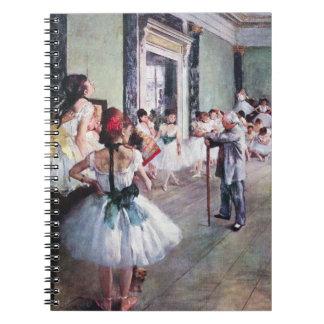 The Dance Class by Edgar Degas, Vintage Ballet Art Notebook