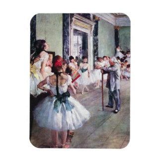 The Dance Class by Edgar Degas, Vintage Ballet Art Rectangular Photo Magnet