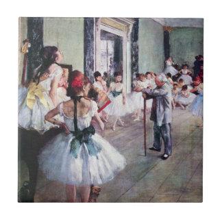 The Dance Class by Edgar Degas, Vintage Ballet Art Small Square Tile