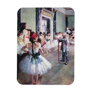 The Dance Class by Edgar Degas, Vintage Ballet Rectangular Photo Magnet
