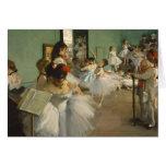 The Dance Class. Edgar Degas Cards