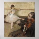 The Dance Lesson by Edgar Degas Print