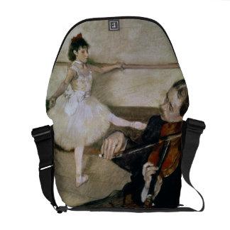 The Dance Lesson, c.1879 (pastel) Messenger Bags