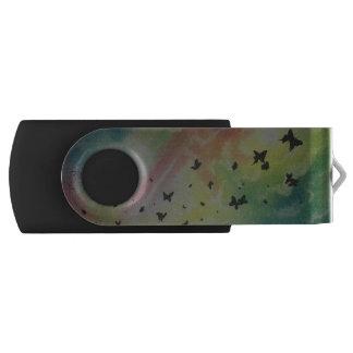 The Dance Of Butterflies Swivel USB 2.0 Flash Drive