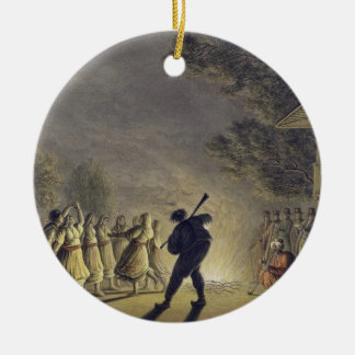 The Dance of the Bulgarian Peasants, pub. by Willi Round Ceramic Decoration