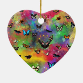the dance of the butterflies ceramic heart decoration