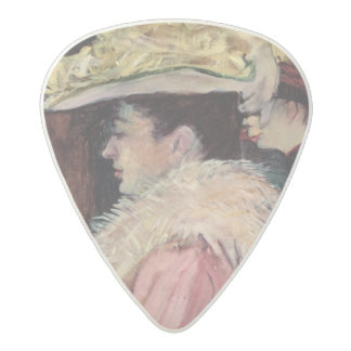 The Dance of the Rouge: detail of an elegan Acetal Guitar Pick