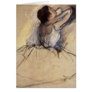 The Dancer by Edgar Degas, Vintage Ballerina Art Card