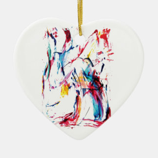 The Dancer Ceramic Heart Decoration