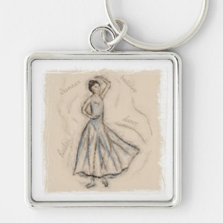 The Dancer Chalk Drawing Keychain