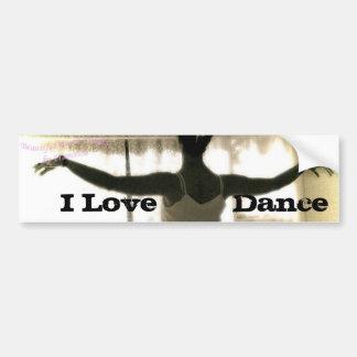 The Dancer, I Love   Dance Bumper Sticker