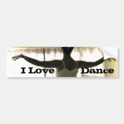 The Dancer, I Love   Dance Bumper Stickers