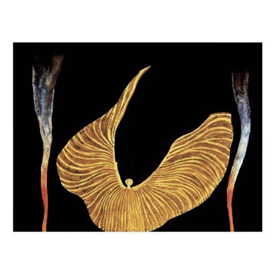 The Dancer Loie Fuller By Moser Koloman (Best Qual Postcard