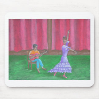 The dancer mouse pad