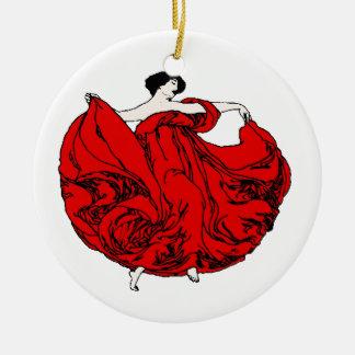 The Dancer Round Ceramic Decoration