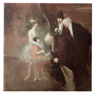 The Dancers, c.1925 (oil on canvas) Large Square Tile