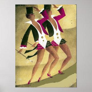 The Dancers Vintage poster Print