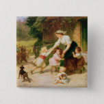 The Dancing Bear 15 Cm Square Badge