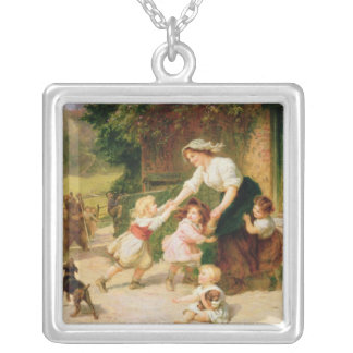 The Dancing Bear Silver Plated Necklace