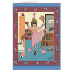 The Dancing Librarian Greeting Card