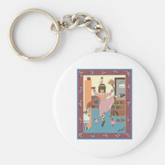 The Dancing Librarian Key Chains