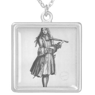 The dancing master silver plated necklace