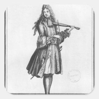 The dancing master square sticker