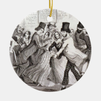The Dancing Rooms, plate 3 of 'The Drunkard's Chil Round Ceramic Decoration