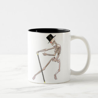 The Dancing Skeleton Two-Tone Coffee Mug