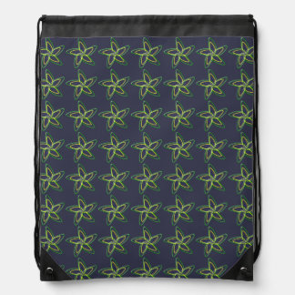 The Dancing Star Flower Drawstring Backpack