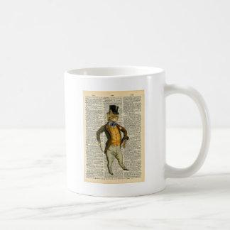 The dapper cat coffee mug