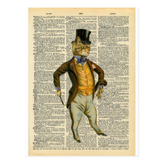 The dapper cat postcard