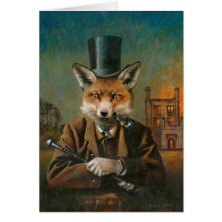 The Dapper Fox Greetings Card