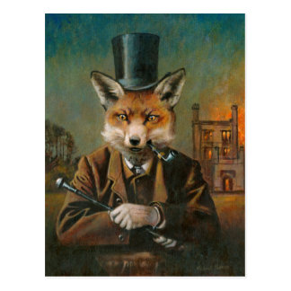 The Dapper Fox Post Card