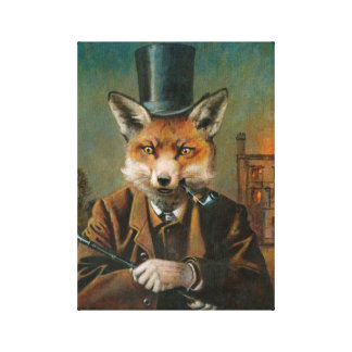 The Dapper Fox Wrapped Canvas