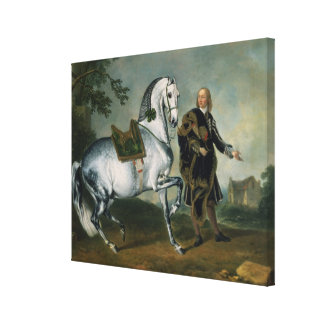 The Dappled Horse 'Scarramuie' en Piaffe Canvas Print