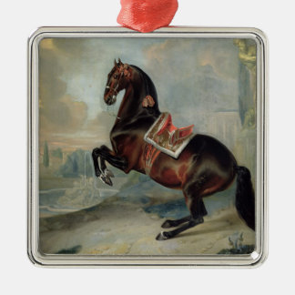 The dark bay horse 'Valido' Christmas Ornament