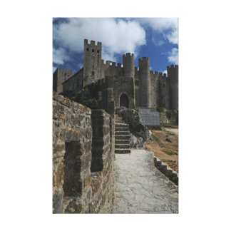 The Dark Castle, Obidos Portugal Stretched Canvas Print